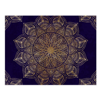 Carte Postale Mandala d'or