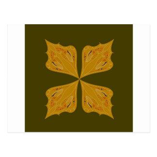 Carte Postale Mandala d'or sur l'olive