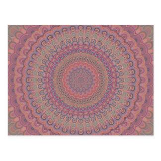 Carte Postale Mandala d'ovale de Boho