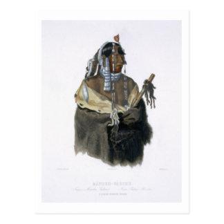 Carte Postale Mandeh-Pahchu, un jeune Indien de Mandan, plaquent