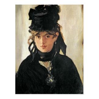 Carte Postale Manet | Berthe Morisot avec un bouquet des