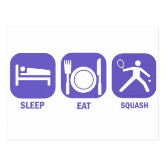 Carte Postale Mangez de la courge de sommeil