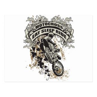 Carte Postale Mangez, dormez, montez le motocross