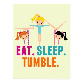 Carte Postale Mangez la gymnastique de dégringolade de sommeil