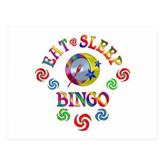 Carte Postale Mangez le bingo-test de sommeil