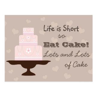 Carte Postale Mangez le gâteau !