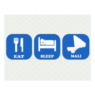 Carte Postale Mangez le sommeil Mali