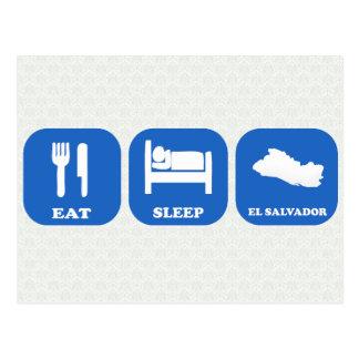 Carte Postale Mangez le sommeil Salvador