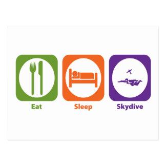 Carte Postale Mangez le sommeil Skydive