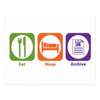 Carte Postale Mangez les archives de sommeil