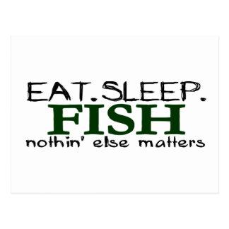 Carte Postale Mangez les poissons de sommeil