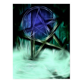Carte Postale Manipulation de fractale de brume de Wiccan
