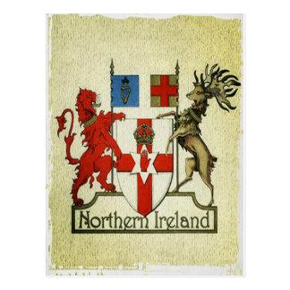 Carte Postale Manteau-de-bras de l'Irlande du Nord