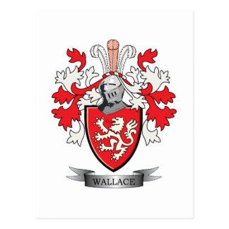 Carte Postale Manteau de crête de famille de Wallace des bras