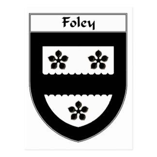 Carte Postale Manteau de Foley des bras/de crête de famille