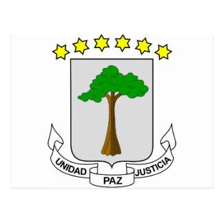 Carte Postale Manteau de Guinée équatoriale des bras GQ