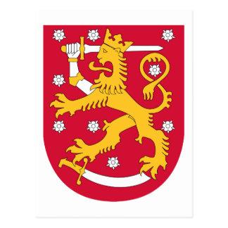Carte Postale Manteau de la Finlande des bras fi