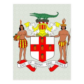 Carte Postale Manteau de la Jamaïque de détail de bras