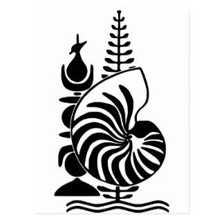 Carte Postale Manteau de la Nouvelle-Calédonie des bras officiel