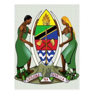 Carte Postale Manteau de la Tanzanie de détail de bras