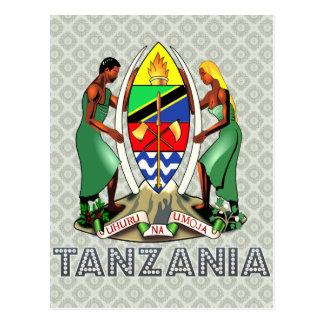 Carte Postale Manteau de la Tanzanie des bras