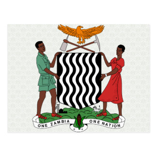 Carte Postale Manteau de la Zambie de détail de bras