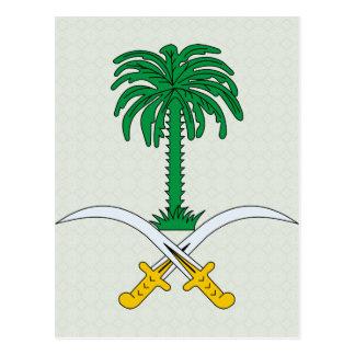 Carte Postale Manteau de l'Arabie Saoudite de détail de bras