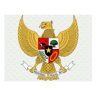 Carte Postale Manteau de l'Indonésie de détail de bras