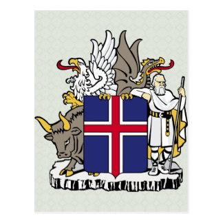 Carte Postale Manteau de l'Islande de détail de bras