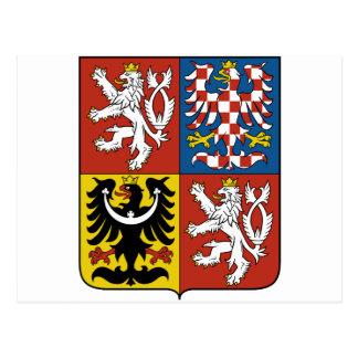 Carte Postale Manteau de République Tchèque des bras CZ
