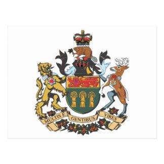 Carte Postale Manteau de Saskatchewan (Canada) des bras