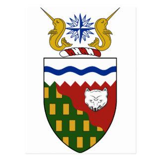 Carte Postale Manteau de Territoires du nord-ouest (Canada) des