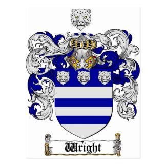Carte Postale Manteau de Wright des bras/de la crête famille de