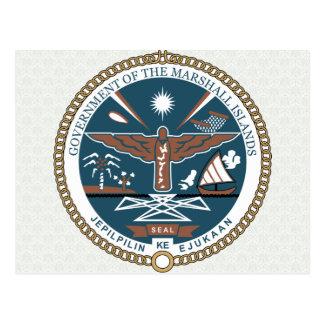 Carte Postale Manteau des Marshall Islands de détail de bras