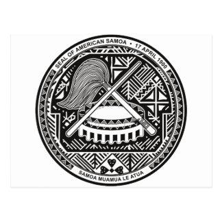 Carte Postale Manteau des Samoa américaines de bras AS