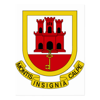 Carte Postale Manteau du Gibraltar des bras