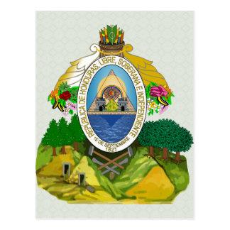 Carte Postale Manteau du Honduras de détail de bras