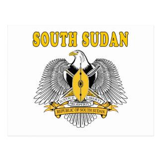 Carte Postale Manteau du sud du Soudan des conceptions de bras