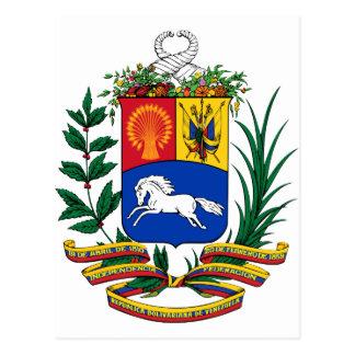 Carte Postale Manteau du Venezuela des bras