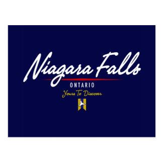 Carte Postale Manuscrit de chutes du Niagara