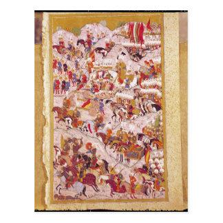 Carte Postale Manuscrit de Hunername : Suleyman