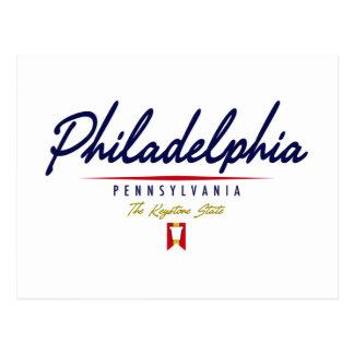 Carte Postale Manuscrit de Philadelphie