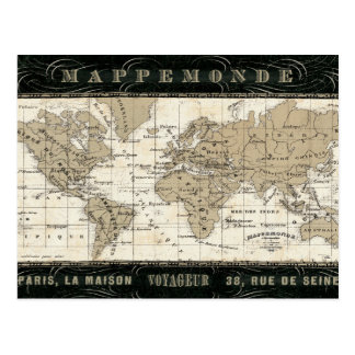 Carte Postale Mappemonde