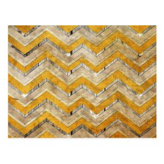 Carte Postale Marbre frais impressionnant en bois de motif de