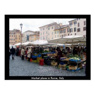 Carte Postale Marché à Rome, Italie