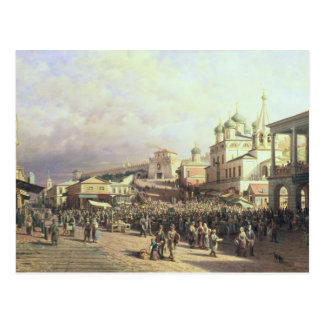Carte Postale Marché dans Nishny, Novgorod, 1872