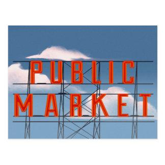 Carte Postale Marché de place de Pike