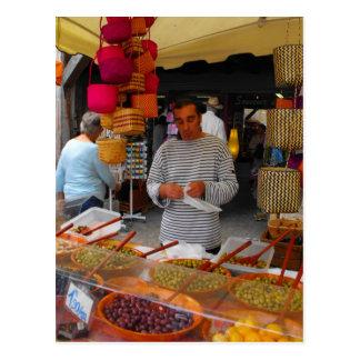 Carte Postale Marché olive de Français de vendeur