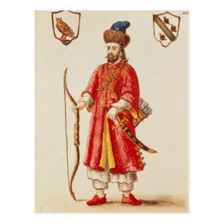 Carte Postale Marco Polo s'est habillé dans le costume de tartre