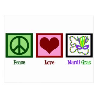Carte Postale Mardi gras d'amour de paix